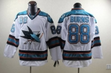 San Jose Sharks #88 Brent Burns White Stitched NHL Jersey