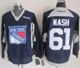 New York Rangers #61 Rick Nash Navy Blue Practice Stitched NHL Jersey