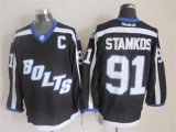 Tampa Bay Lightning #91 Steven Stamkos Black Third Stitched NHL Jersey