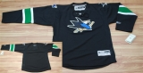 San Jose Sharks Blank Stitched Black NHL Jersey