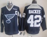 St Louis Blues #42 David Backes Navy Blue Practice Stitched NHL Jersey