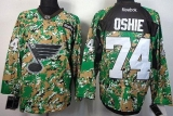 St Louis Blues #74 T J Oshie Camo Veterans Day Practice Stitched NHL Jersey