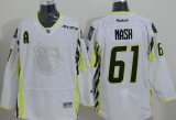 New York Rangers #61 Rick Nash White 2015 All Star Stitched NHL Jersey