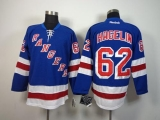 New York Rangers #62 Carl Hagelin Blue Home Stitched NHL Jersey