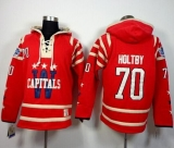 Washington Capitals #70 Braden Holtby 2015 Winter Classic Red Sawyer Hooded Sweatshirt Stitched NHL Jersey