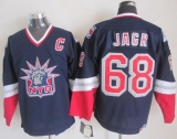 New York Rangers #68 Jaromir Jagr Navy Blue CCM Statue of Liberty Stitched NHL Jersey