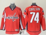 Washington Capitals #74 John Carlson Red Stitched NHL Jersey