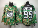 New York Rangers #99 Wayne Gretzky Camo Veterans Day Practice Stitched NHL Jersey
