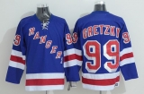 New York Rangers #99 Wayne Gretzky Stitched Blue CCM Throwback NHL Jersey