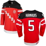 Olympic CA 5 Dan Hamhuis Red 100th Anniversary Stitched NHL Jersey