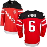 Olympic CA 6 Shea Weber Red 100th Anniversary Stitched NHL Jersey