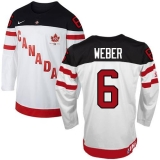 Olympic CA 6 Shea Weber White 100th Anniversary Stitched NHL Jersey