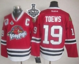 Chicago Blackhawks #19 Jonathan Toews Red Ice Hogs 2015 Stanley Cup Stitched NHL Jersey