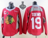Chicago Blackhawks #19 Jonathan Toews Red Practice 2015 Stanley Cup Stitched NHL Jersey