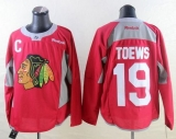 Chicago Blackhawks #19 Jonathan Toews Red Practice Stitched NHL Jersey
