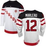 Olympic CA 12 Patrick Marleau White 100th Anniversary Stitched NHL Jersey