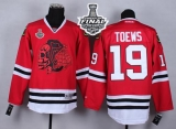 Chicago Blackhawks #19 Jonathan Toews Red Red Skull 2015 Stanley Cup Stitched NHL Jersey