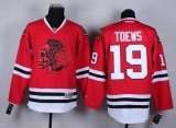 Chicago Blackhawks #19 Jonathan Toews Red Red Skull Stitched NHL Jersey