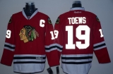 Chicago Blackhawks #19 Jonathan Toews Red Reflective Version Stitched NHL Jersey