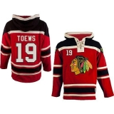 Chicago Blackhawks #19 Jonathan Toews Red Sawyer Hooded Sweatshirt Stitched NHL Jersey
