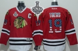 Chicago Blackhawks #19 Jonathan Toews Red USA Flag Fashion 2015 Stanley Cup Stitched NHL Jersey