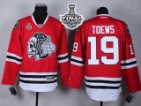 Chicago Blackhawks #19 Jonathan Toews Red White Skull 2015 Stanley Cup Stitched NHL Jersey