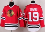 Chicago Blackhawks #19 Jonathan Toews Stitched Red NHL Jersey