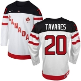 Olympic CA 20 John Tavares White 100th Anniversary Stitched NHL Jersey