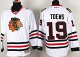 Chicago Blackhawks #19 Jonathan Toews Stitched White NHL Jersey