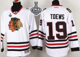 Chicago Blackhawks #19 Jonathan Toews White 2015 Stanley Cup Stitched NHL Jersey