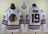 Chicago Blackhawks #19 Jonathan Toews White 2015 Winter Classic 2015 Stanley Cup Stitched NHL Jersey
