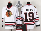 Chicago Blackhawks #19 Jonathan Toews White Autographed 2015 Stanley Cup Stitched NHL Jersey