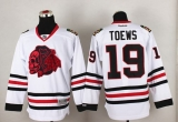 Chicago Blackhawks #19 Jonathan Toews White Red Skull Stitched NHL Jersey