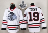 Chicago Blackhawks #19 Jonathan Toews White White Skull 2015 Stanley Cup Stitched NHL Jersey
