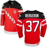 Olympic CA 37 Patrice Bergeron Red 100th Anniversary Stitched NHL Jersey