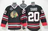 Chicago Blackhawks #20 Brandon Saad Black 2015 Stanley Cup Stitched NHL Jersey