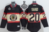 Chicago Blackhawks #20 Brandon Saad Black New Third 2015 Stanley Cup Stitched NHL Jersey