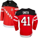Olympic CA 41 Mike Smith Red 100th Anniversary Stitched NHL Jersey