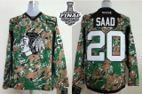Chicago Blackhawks #20 Brandon Saad Camo Veterans Day Practice 2015 Stanley Cup Stitched NHL Jersey