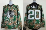 Chicago Blackhawks #20 Brandon Saad Camo Veterans Day Practice Stitched NHL Jersey