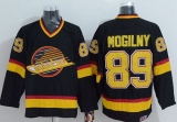 Vancouver Canucks #89 Alexander Mogilny Stitched Black CCM Throwback NHL Jersey