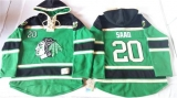 Chicago Blackhawks #20 Brandon Saad Green St Patrick\'s Day McNary Lace Hoodie Stitched NHL Jersey