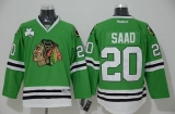 Chicago Blackhawks #20 Brandon Saad Green Stitched NHL Jersey