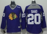 Chicago Blackhawks #20 Brandon Saad Purple Practice Stitched NHL Jersey