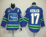 Vancouver Canucks 2011 Stanley Cup Finals #17 Ryan Kesler Blue Third Stitched NHL Jersey