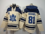 Toronto Maple Leafs #81 Phil Kessel Cream Sawyer Hooded Sweatshirt Stitched NHL Jersey