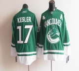 Vancouver Canucks St Patty\'s Day #17 Ryan Kesler Green Stitched NHL Jersey