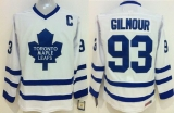 Toronto Maple Leafs #93 Doug Gilmour White CCM Throwback Stitched NHL Jersey