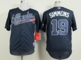 Atlanta Braves #19 Andrelton Simmons Blue Cool Base Stitched MLB Jersey