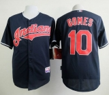 Cleveland Indians #10 Yan Gomes Navy Blue Cool Base Stitched MLB Jersey